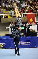 CALI -COLOMBIA-29-07-2013. El equipo de Portugal durante la prueba de gimnasia acrobática en los Juegos Mundiales Cali 2013 realizado en la ciudad de Cali./ Portugal team during the acrobatic gymnastics competition on the World Games Cali 2013  at Cali city  Photo: VizzorImage/Juan C. Quintero/STR