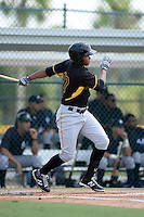Pittsburgh Pirates outfielder Willy Garcia (17) during an Instructional League game against the New York Yankees on September 18, 2014 at the Pirate City in Bradenton, Florida.  (Mike Janes/Four Seam Images)