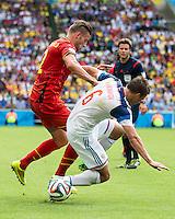 Rio de Janeiro, Brazil - June 22, 2014: Belgium defeated Russia 1-0 during group play at Maracanã Stadium.