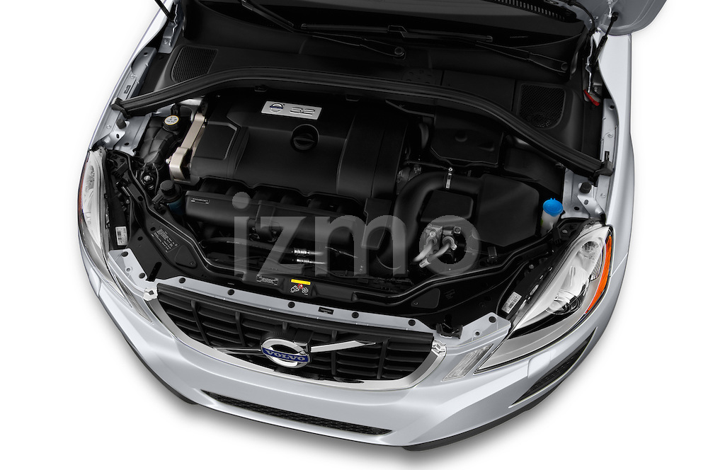 High angle engine detail of a  .2013 Volvo XC60
