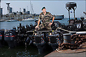 Juin 2010, Commandos Marine.<br /> CAPITAINE DE CORVETTE PATRICK ALBIERO,<br /> officier responsable de la logistique opérationnelle à l'état-major de la Forfusco de Lorient.