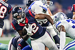 Houston Texans running back Kenny Hilliard (22) in action during the pre-season game between the Houston Texans and the Dallas Cowboys at the AT & T stadium in Arlington, Texas.