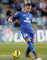 Getafe's Paco Alcocer during La Liga match.November 18,2012. (ALTERPHOTOS/Acero) NortePhoto