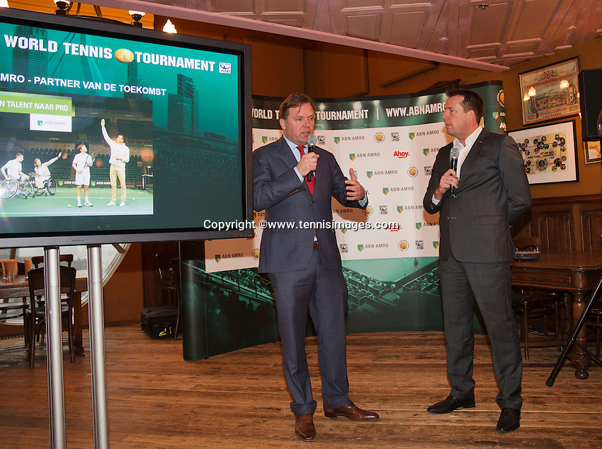 Januari 08, 2015, Rotterdam, ABNAMRO, Coolsingel, ABNAMROWTT Pressconference, Ernst Broekorst explains<br /> Photo: Tennisimages/Henk Koster