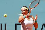 Caroline Garcia during Madrid Open Tennis 2015 match.May, 5, 2015.(ALTERPHOTOS/Acero)