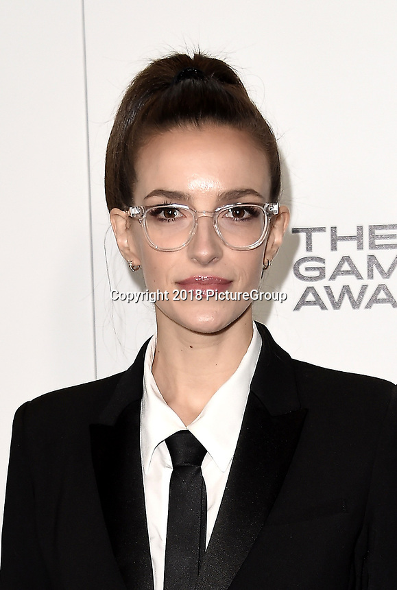 LOS ANGELES - DECEMBER 6: Sarah Schachner attends the 2018 Game Awards at the Microsoft Theater on December 6, 2018 in Los Angeles, California. (Photo by Scott Kirkland/PictureGroup)