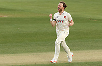Sam Cook of Essex celebrates taking the wicket of Tom Fell during Essex CCC vs Worcestershire CCC, LV Insurance County Championship Group 1 Cricket at The Cloudfm County Ground on 9th April 2021