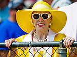 August 29, 2015 : Marylou Whitney makes a rare appearance at the rail to her horse, Eternal Bird, run in a maiden race on Travers Stakes Day at Saratoga Race Course in Saratoga Springs, NY. Scott Serio/ESW/CSM