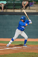 Jose Martinez (2) of the Burlington Royals at bat against the Bristol Pirates at Boyce Cox Field on July 10, 2015 in Bristol, Virginia.  The Pirates defeated the Royals 9-4. (Brian Westerholt/Four Seam Images)