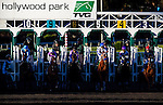 Horses break from the gate on December 07, 2013 at Betfair Hollywood Park in Inglewood, California .(Alex Evers/ Eclipse Sportswire)