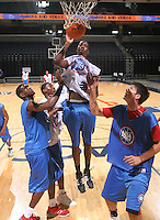 C Henry Sims (Baltimore, MD / Mt. St. Josephís) shoots the ball during the NBA Top 100 Camp held Friday June 22, 2007 at the John Paul Jones arena in Charlottesville, Va. (Photo/Andrew Shurtleff)