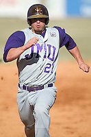 James Madison right fielder Kellen Kulbacki (21) hustles into third base versus Charlotte at Fieldcrest Cannon Stadium in Kannapolis, NC, Friday, March 2, 2007.  The Charlotte 49'ers defeated the James Madison Dukes 16-7.