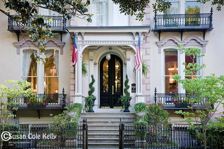 The Hamilton-Turner House in Savannah, GA, USA