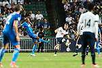 Tottenham Hotspur Defender Toby Alderweireld (R) in action during the Friendly match between Kitchee SC and Tottenham Hotspur FC at Hong Kong Stadium on May 26, 2017 in So Kon Po, Hong Kong. Photo by Man yuen Li  / Power Sport Images