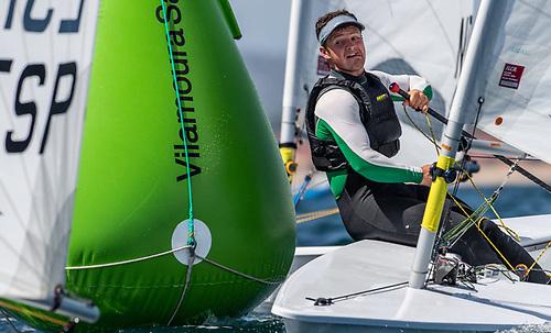 Liam Glynn (Ballyholme YC) in action at the Vilamour regatta