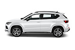 Car Driver side profile view of a 2020 Seat Ateca FR 5 Door SUV Side View