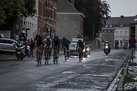 Break away group rolling through town. <br /> <br /> 78th Euro Metropole Tour 2018<br /> La Louvière – Tournai (BEL): 206km