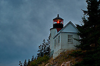 Lighthouse, Bass Harbor, Maine, ME, USA