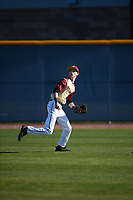 Zachary Fritts (5) of Lenoir City High School in Lenoir City, Tennessee during the Baseball Factory All-America Pre-Season Tournament, powered by Under Armour, on January 13, 2018 at Sloan Park Complex in Mesa, Arizona.  (Mike Janes/Four Seam Images)