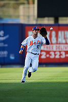 St. Lucie Mets left fielder Cody Bohanek (10) during a Florida State League game against the Florida Fire Frogs on April 12, 2019 at First Data Field in St. Lucie, Florida.  Florida defeated St. Lucie 10-7.  (Mike Janes/Four Seam Images)