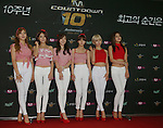 """AOA, Jul 24, 2014 : South Korean girl group AOA, attend a photo call before the 10th anniversary live special of weekly music chart show, """"M! Countdown"""" of Mnet in Goyang, north of Seoul, South Korea. (Photo by Lee Jae-Won/AFLO) (SOUTH KOREA)"""