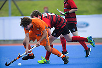 Action from the 2019 Men's National Hockey League match between Bayleys Midlands and Canterbury at Blake Park in Mount Maunganui, New Zealand on Saturday, 14 September 2019. Photo: Dave Lintott / lintottphoto.co.nz