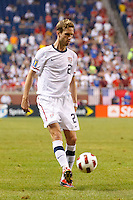 7 June 2011: USA Men's National Team defender Clarence Goodson (21) dribbles the ball during the CONCACAF soccer match between USA and Canada at Ford Field Detroit, Michigan. USA won 2-0.