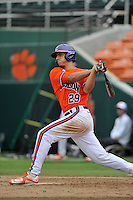 Junior pitcher Jackson Campana (29) of the Clemson Tigers in a fall practice intra-squad Orange-Purple scrimmage on Saturday, September 26, 2015, at Doug Kingsmore Stadium in Clemson, South Carolina. (Tom Priddy/Four Seam Images)