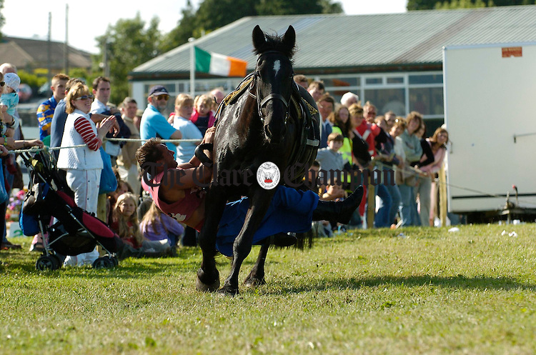 Sergei Khimich thrills the crowds on horseback at the County Clare Agricultural Show in Ennis. Photograph by John Kelly.