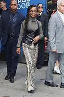 NEW YORK, NY- OCTOBER 14: Marsai Martin seen at an appearance on Good Morning America and Strahan, Sara & Keke promoting Black-ish at ABC Studios in New York City on October 14, 2019. Credit: RW/MediaPunch