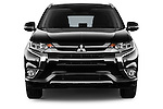 Car photography straight front view of a 2016 Mitsubishi Outlander Phev PHEV 5 Door Suv Front View