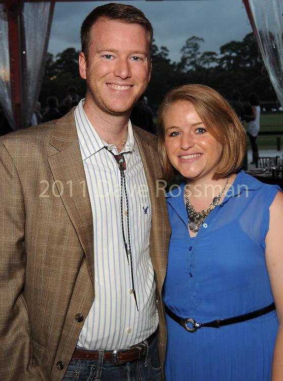 Whitney and Robert Blanchard at the Nature Conservancy's Nature Rocks  Gala at the Houston Polo Club Thursday Oct. 22,2015.(Dave Rossman photo)