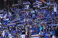 12th September 2021; G.Ferraris Stadium, Genoa, Italy; Serie A football, Sampdoria versus Inter Milan; Fans of Sampdoria hold up scarves to support their team