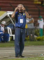Floridablanca -Colombia,14-05-2017. Fernando Castro coach of Bucaramanga. Action game between Bucaramanga and Equidad during match for the date 18 of the Aguila League I 2017 played at Alvaro Gomez stadium . Photo:VizzorImage / Oscar Martinez  / Contribuidor