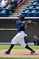 April 11th 2010: Martin Maldonado of the Brevard County Manatees, the Florida State League High-A affiliate of the Milwaukee Brewers in a game against the of the Daytona Cubs, the Florida State League High-A affiliate of the Chicago Cubs at Space Coast Stadium in Viera, FL (Photo By Scott Jontes/Four Seam Images)