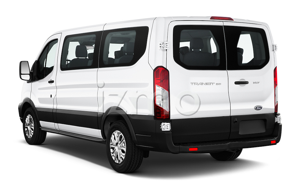 Car pictures of rear three quarter view of 2016 Ford Transit 150-XLT-Low-Roof 4 Door Passenger Van Angular Rear