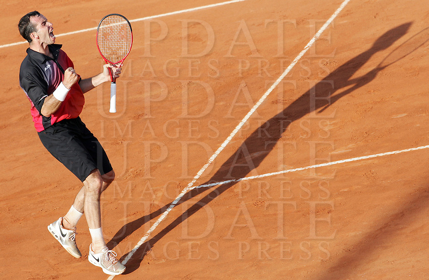 Internazionali d'Italia di tennis a Roma, 9 maggio 2008..Italy's Masters tennis tournament in Rome, 9 may 2008. Czech Republic's Radek Stepanek celebrates..UPDATE IMAGES PRESS/Riccardo De Luca