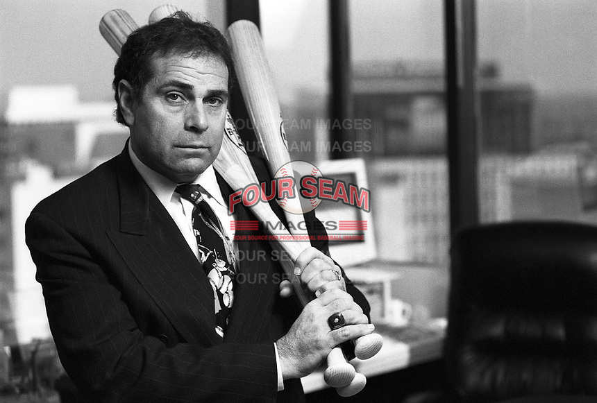 Baseball player agent Dennis Gilbert at his office in Beverly Hills,California during 1996. (Larry Goren/Four Seam Images)
