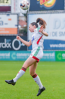 Estee Cattoor (11) of OHL pictured during a female soccer game between Eendracht Aalst and OHL on the 13 th matchday of the 2020 - 2021 season of Belgian Scooore Womens Super League , Saturday 6 th of February 2021  in Aalst , Belgium . PHOTO SPORTPIX.BE | SPP | STIJN AUDOOREN