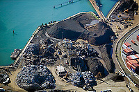 aerial photograph Schnitzer Steel Port of Oakland, California