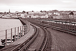 Railway at Ryde in the Isle of Wight, Hampshire, UK
