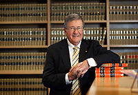 Weat Australian Chief Justice Wayne Martin in his chambers, July 16, 2018. He is retiiring this week. photo by Trevor Collens