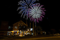 The Kannapolis Intimidators presented a fireworks show sponsored by the City of Kannapolis following the South Atlantic League game against the Hagerstown Suns at Kannapolis Intimidators Stadium on July 4, 2016 in Kannapolis, North Carolina.  The Intimidators defeated the Suns 8-2.  (Brian Westerholt/Four Seam Images)