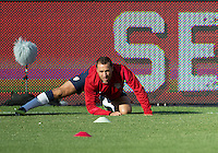 03 June 2012: US Men's National Soccer Team defender Steve Cherundolo #6 in action during the warm-up in an international friendly  match between the United States Men's National Soccer Team and the Canadian Men's National Soccer Team at BMO Field in Toronto..The game ended in 0-0 draw...