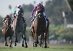 ARCADIA, CA - NOVEMBER 05: Obviously #2, ridden by Flavien Prat, in the Breeders' Cup Turf Sprint during day two of the 2016 Breeders' Cup World Championships at Santa Anita Park on November 5, 2016 in Arcadia, California. (Photo by Alex Evers/Eclipse Sportswire/Breeders Cup)