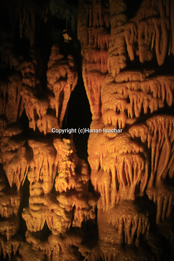 Israel, Jerusalem Mountains, Stalactites Cave Nature Reserve (also called Soreq Cave)