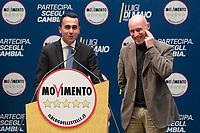 Luigi Di Maio e Gregorio De Falco<br /> Roma 29/01/2018. Presentazione dei candidati nelle liste uninominali del Movimento 5 Stelle.<br /> Rome January 29th 2018. Presentation of the candidates for Movement 5 Stars.<br /> Foto Samantha Zucchi Insidefoto