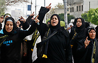 """Palestinian supporters of the Islamic Jihad movement attend a rally in Gaza City on March 29, 2008 urging Arab leaders gathered in for the Arab Summit in Damascus to support a bid to bridge the rift between rival Palestinian factions. President Bashar al-Assad opened a boycott-hit Arab summit today in the absence of half of the region's leaders, many of whom blame Damascus for the political crisis in Lebanon.""""photoo by Fady Adwan"""""""