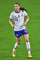 18th February 2021, Orlando, Florida, USA;  United States defender Christen Press (23) looks on during a SheBelieves Cup game between Canada and the United States on February 18, 2021 at Exploria Stadium in Orlando, FL.