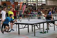Jonathan Ritter (schwarz) aus Darmstadt gegen Samir von Daeniken (blau) aus Zürich - Darmstadt 22.04.2017: 3. HEADIS Turnier